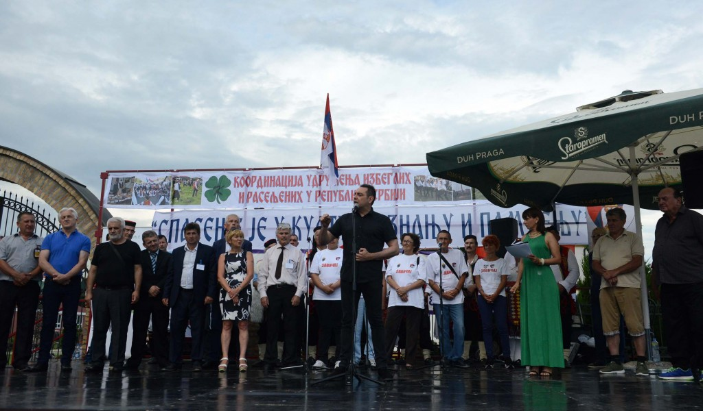 Minister Vulin at the event Krajina songs dances and customs