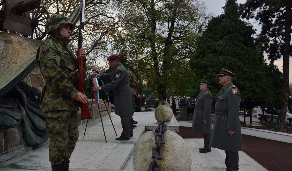 Wreath laying ceremony on the occasion of Veterans Day
