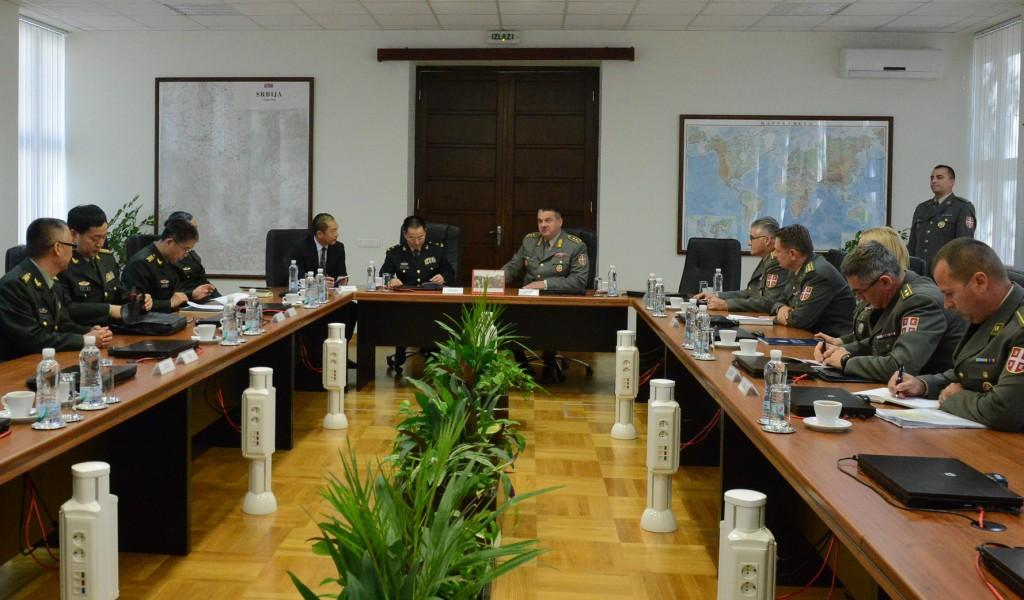 Посета генерала Ванг Липинга Генералштабу Војске Србије