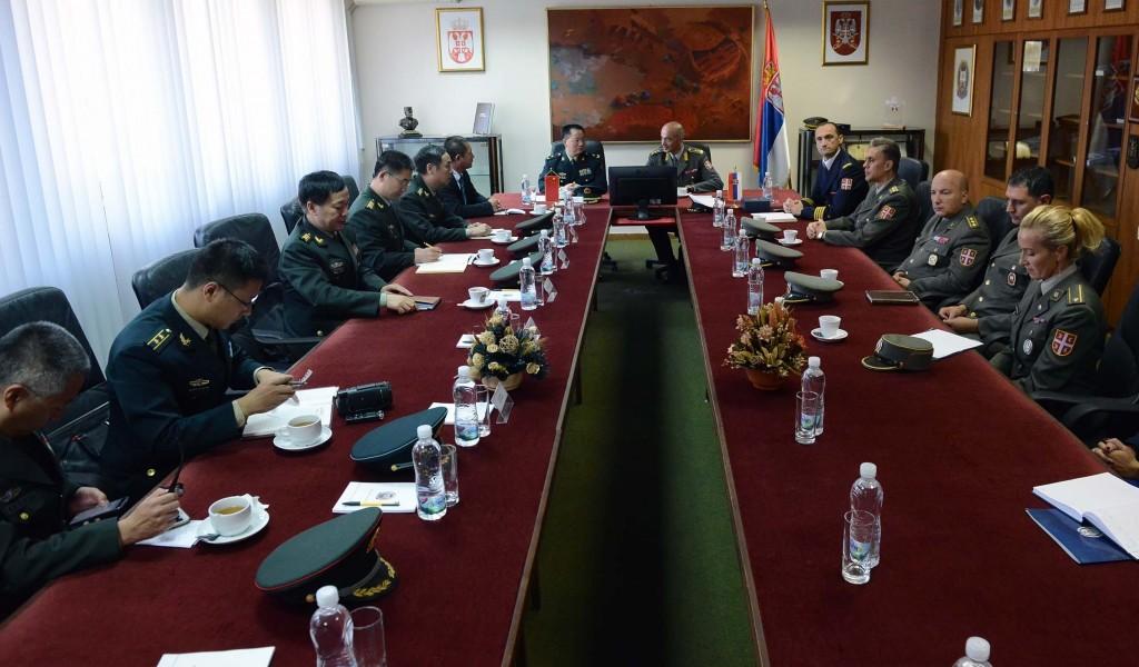 Poseta kineske delegacije Ministarstvu odbrane