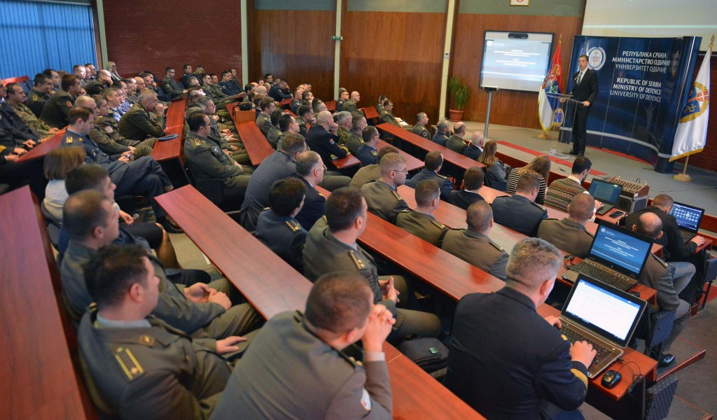 Lecture by the Director of the Office for Kosovo and Metohija at the School of National Defence
