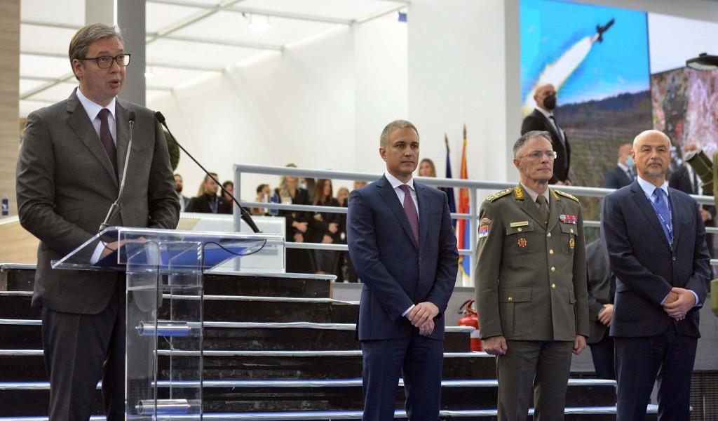 Председник Вучић отворио 10 Међународни сајам наоружања и војне опреме ПАРТНЕР 2021