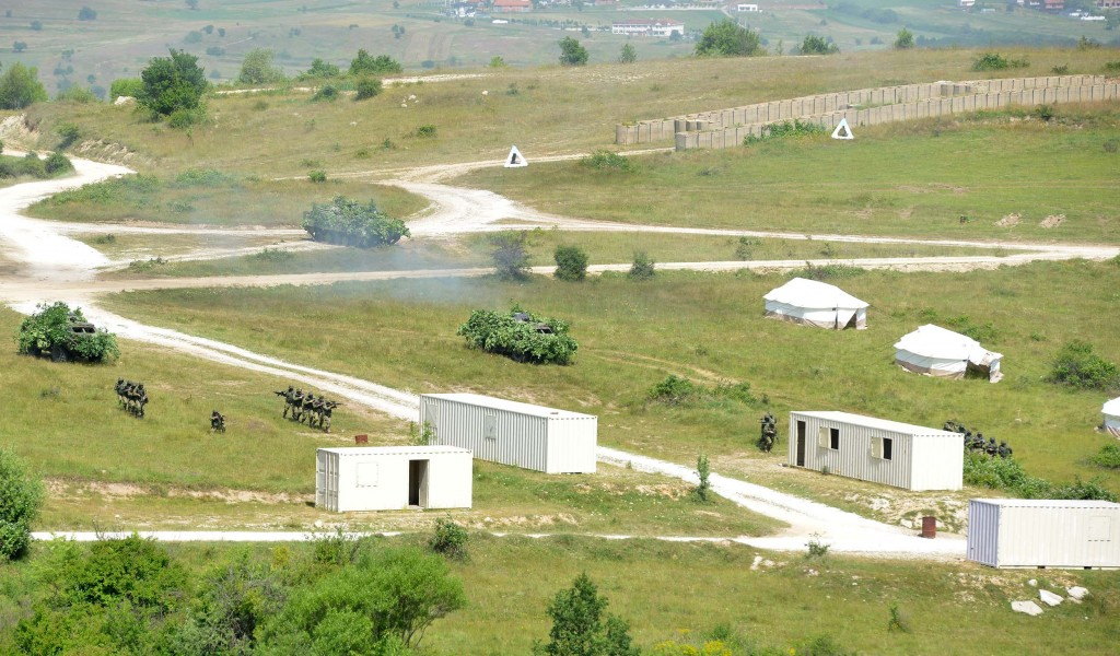 4th Army Brigade Exercise on the Training Area Borovac