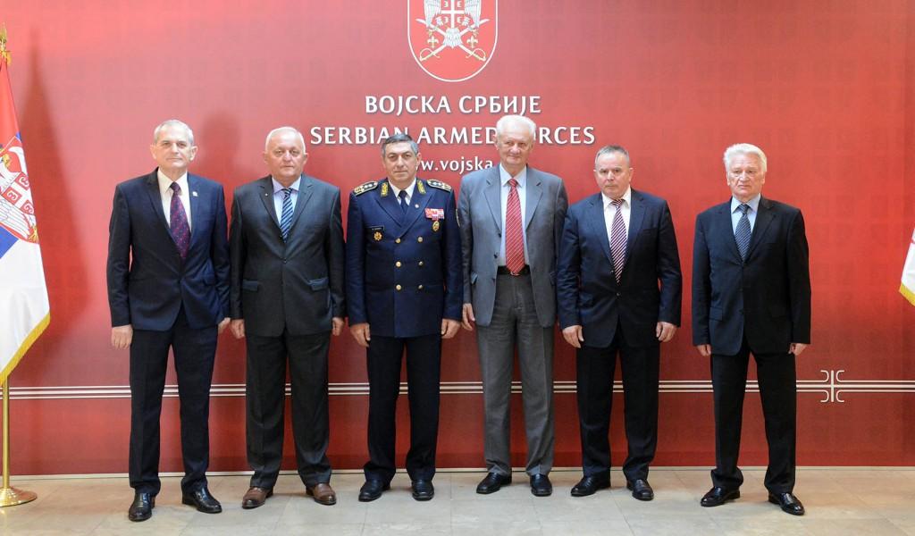 Пријем пензионисаних начелника Генералштаба поводом Дана Војске