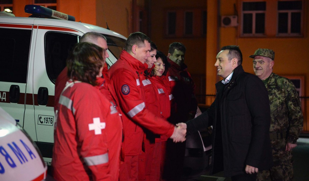Minister Vulin Visited Military Medical Emergency Centre