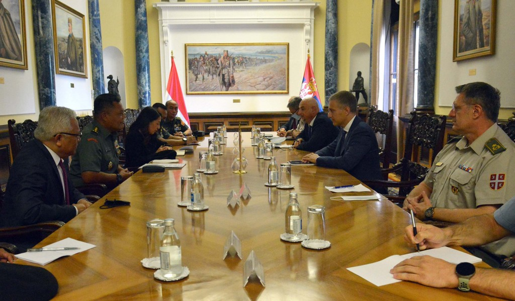 Meeting between Minister Stefanović and representatives of Indonesian Armed Forces Strategic Intelligence Agency