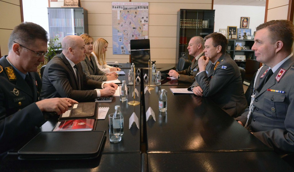 State Secretary Živković meets with the Director General of the EU Military Staff Pulkkinen