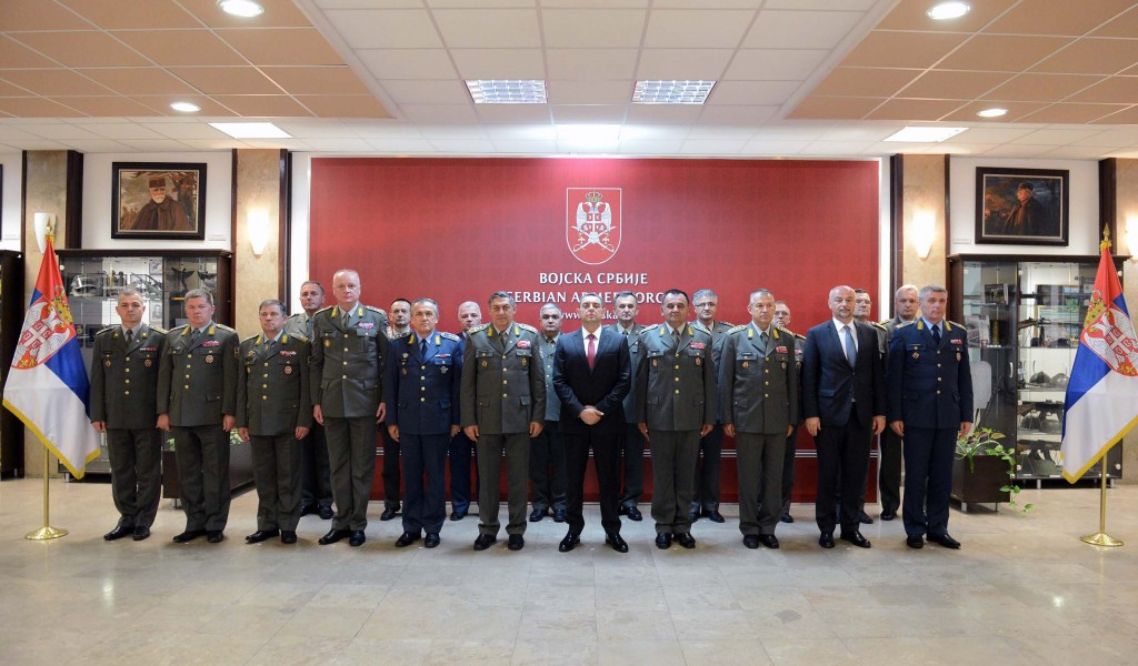 Minister Vulin visits General Staff
