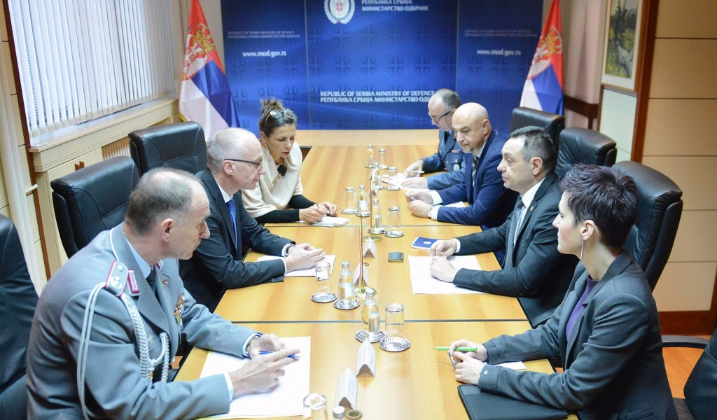 Meeting of Minister Vulin and Ambassador Schieb