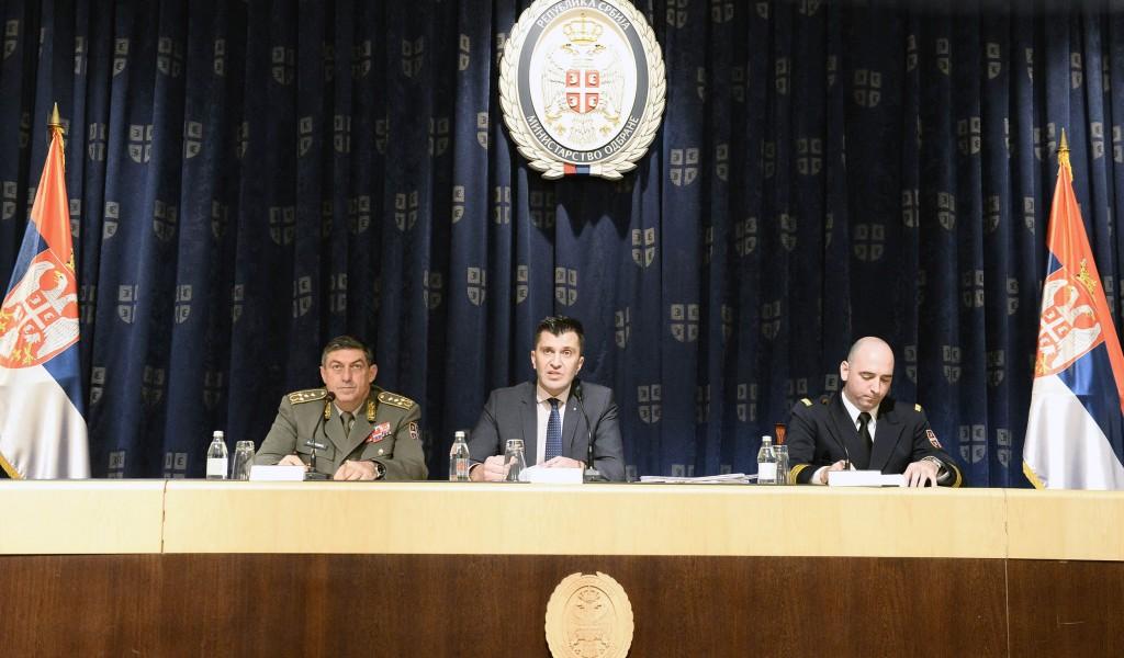 Конференција за медије министра одбране