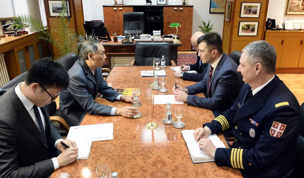 Састанак министра одбране са амбасадором Кине
