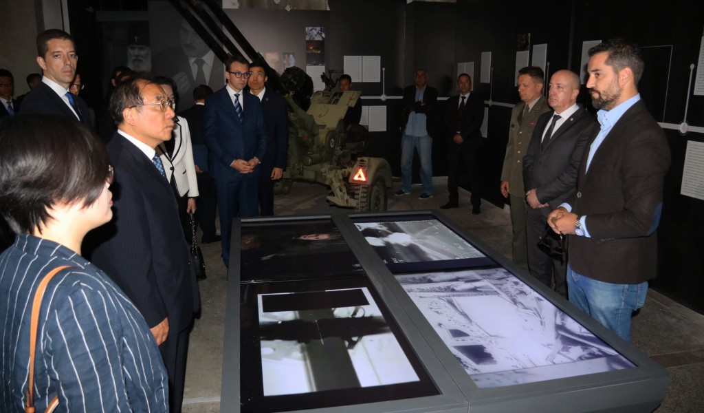 Delegation of the Communist Party of China visited the exhibition Odbrana 78