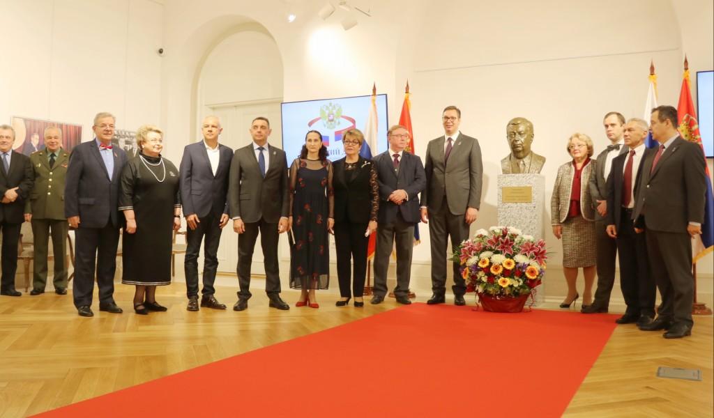 Otkrivena bista Jevgenija Primakova velikog građanina Rusije i prijatelja Srbije