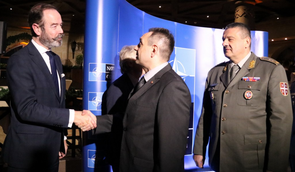 Minister Vulin at the reception on the occasion of handover of the NATO Contact Point Embassy