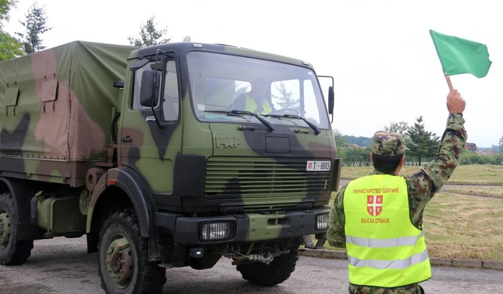 Такмичење возача поводом Дана безбедности војних учесника у саобраћају