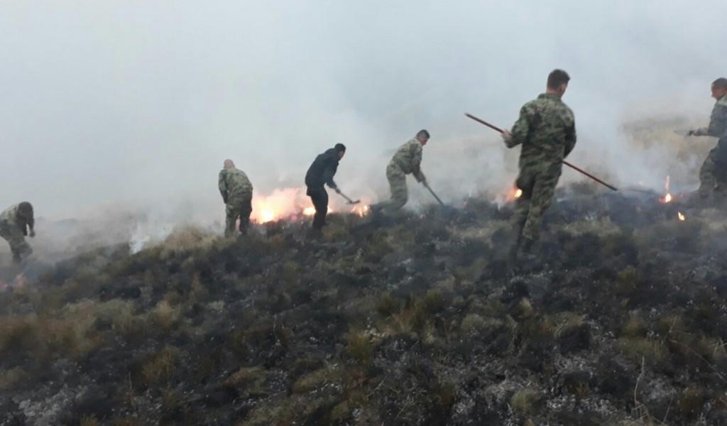 Vojska Srbije pomaže u gašenju požara u opštini Trgovište