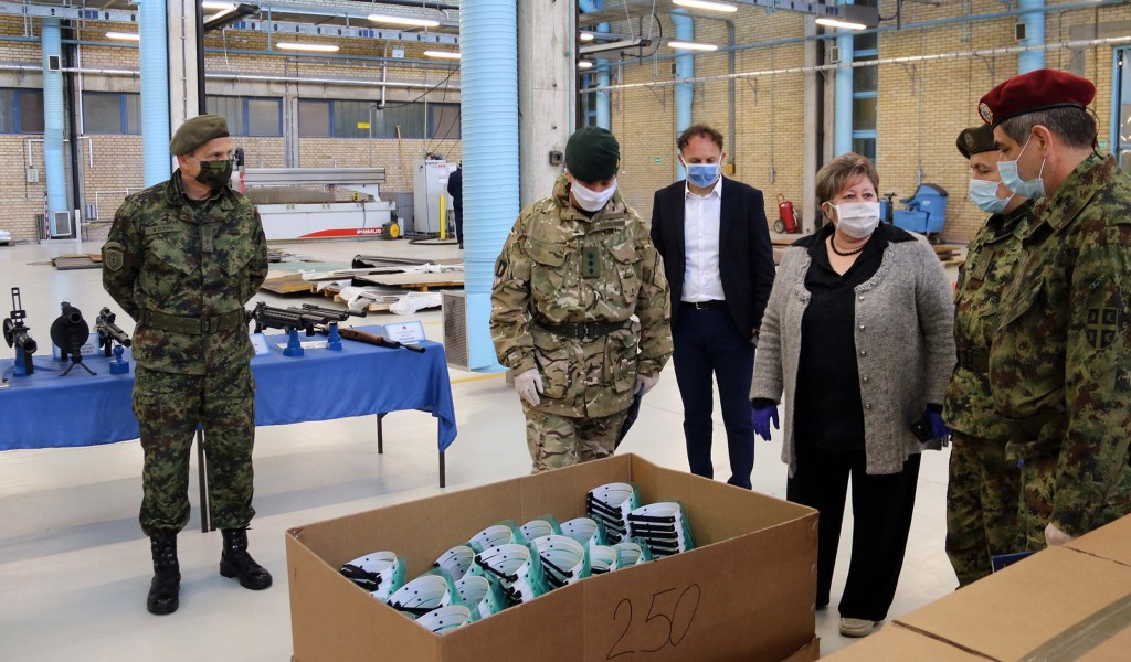 Donation from PPT Namenska Company and the Embassy of the United Kingdom to the Ministry of Defence in the fight against coronavirus
