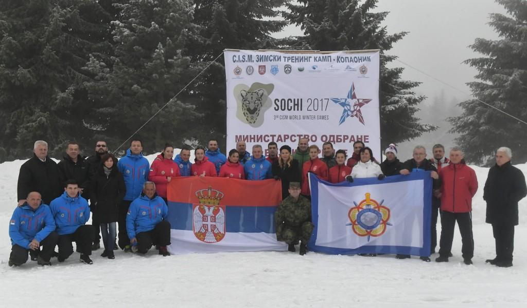 Припреме војних скијаша за Зимску војну олимпијаду
