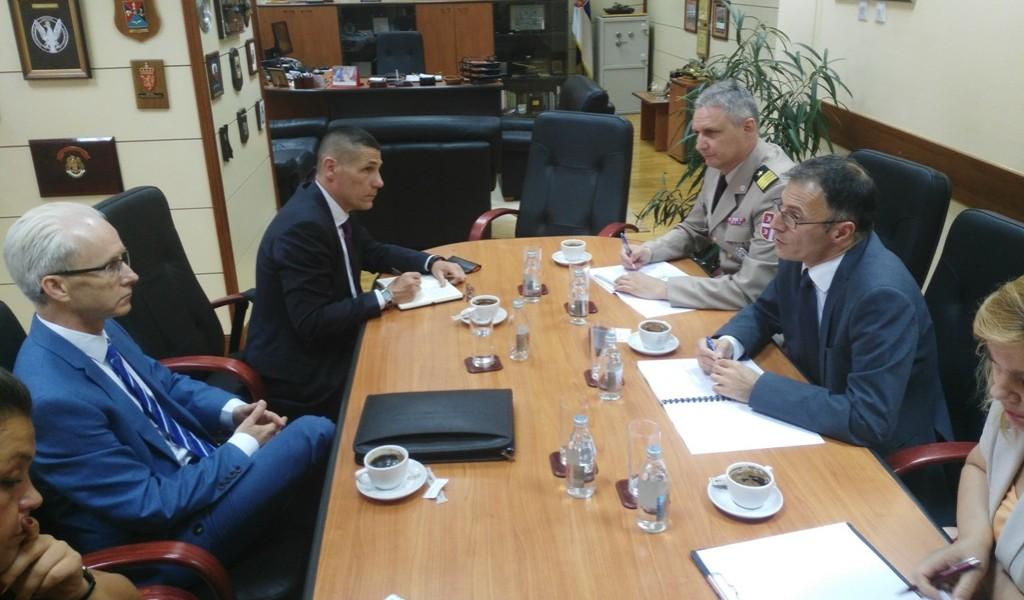 Састанак помоћника министра за политику одбране са политичким саветником команданта Здружених снага НАТО