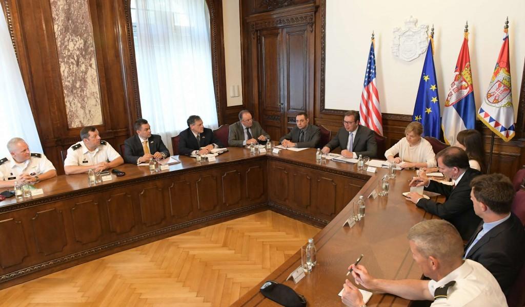Председник Вучић примио делегацију оружаних снага Сједињених Америчких Држава