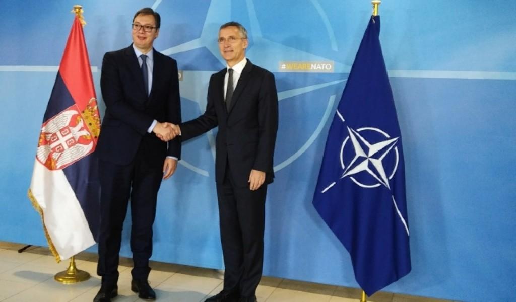 Sastanak sa generalnim sekretarom NATO Jensom Stoltenbergom