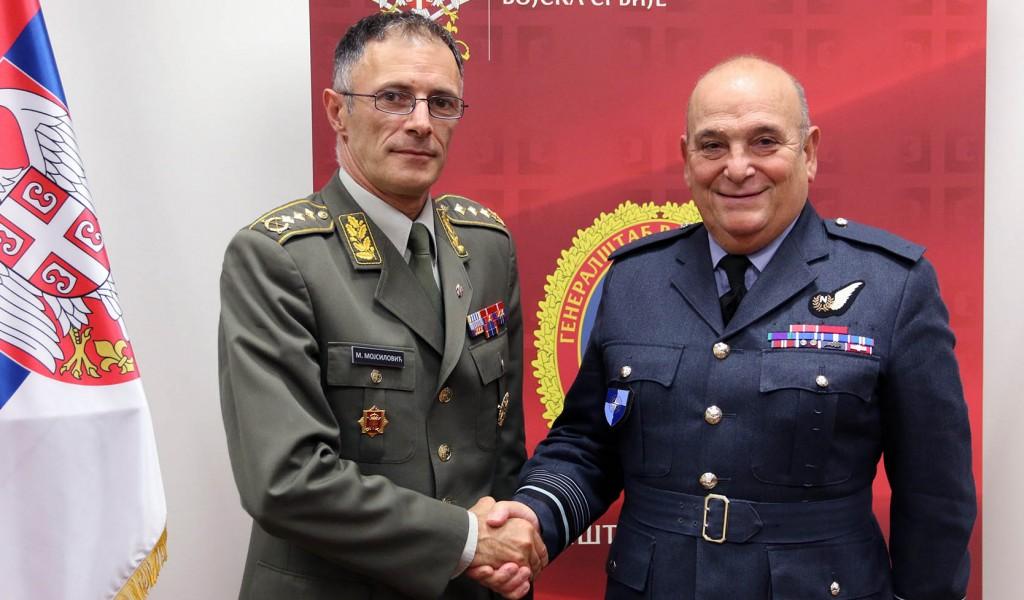 Генерал Мојсиловић са председавајућим Војном комитету НАТО а маршалом Пичом