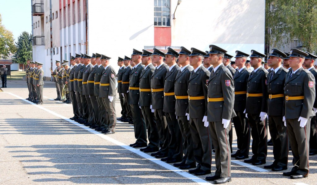 Promotion of new Serbian Armed Forces Non Commissioned Officers