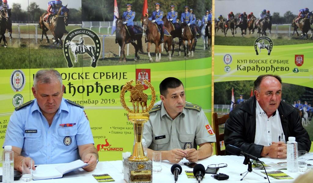 Konferencija za medije povodom Kupa Vojske Srbije Karađorđevo 2019
