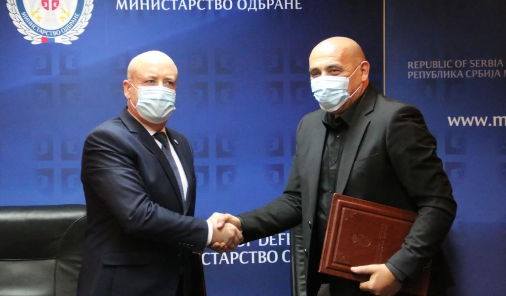 Potpisan Sporazum o saradnji Ministarstva odbrane i Pokrajinskog zavoda za sport i medicinu sporta Vojvodine