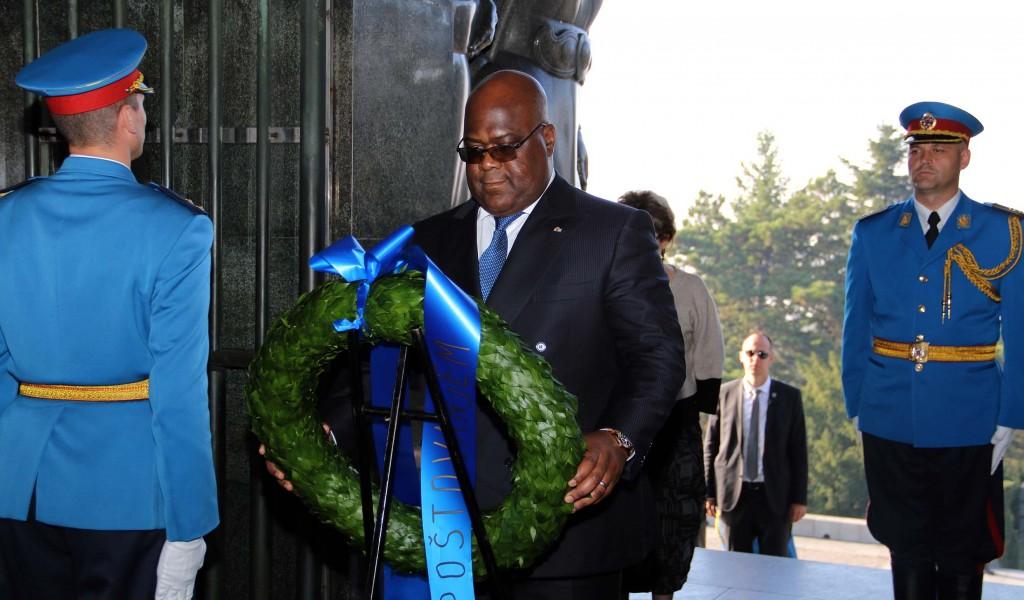 Predsednik Demokratske Republike Kongo položio venac na Spomenik neznanom junaku