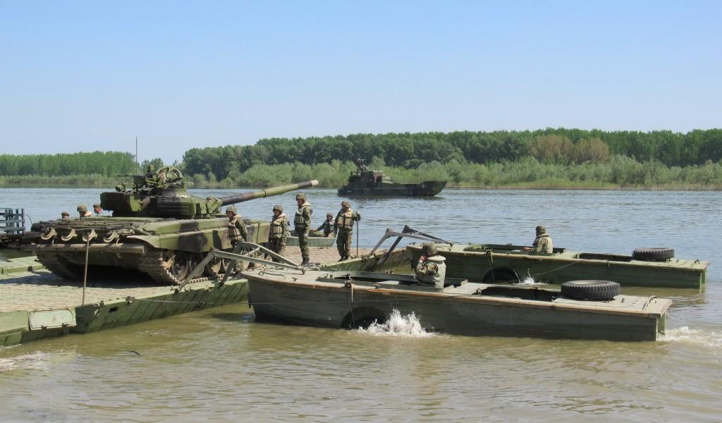 Заједничко увежбавање Прве бригаде и Речне флотиле