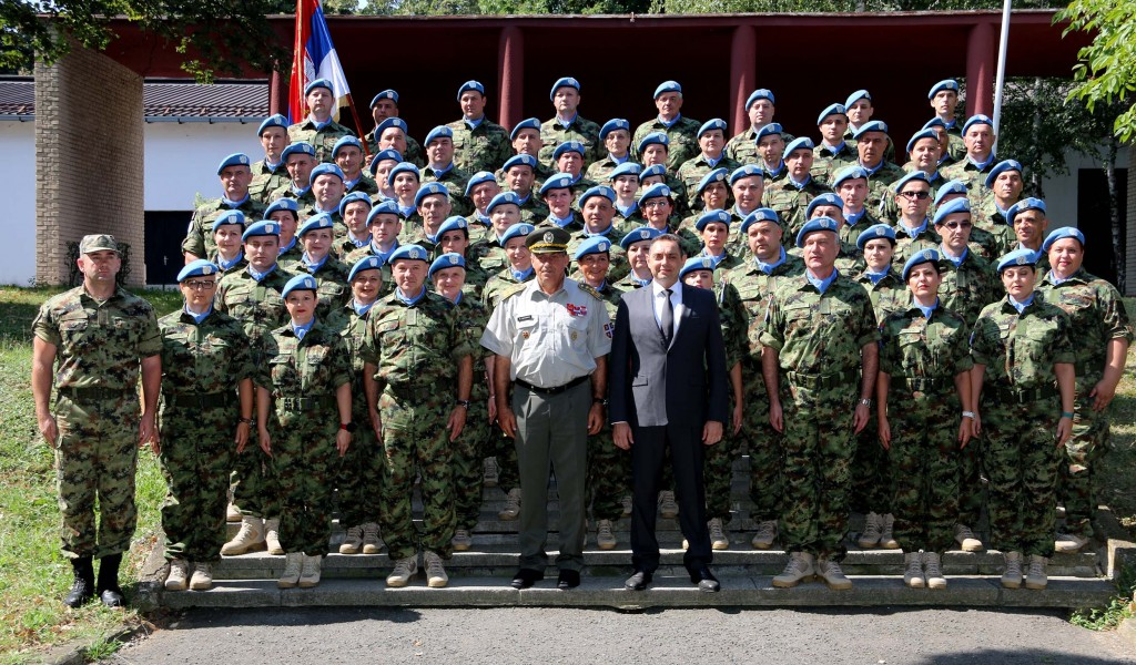 Send off ceremony for the contingent of the Serbian Armed Forces to the UN Mission in Central African Republic