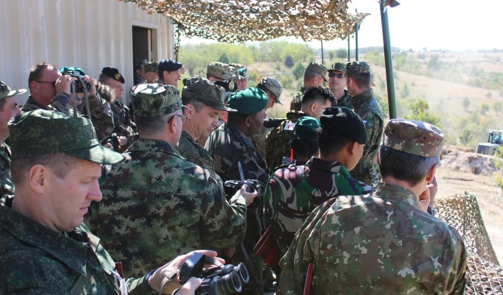 Страни војни представници обишли вежбу Стена 03