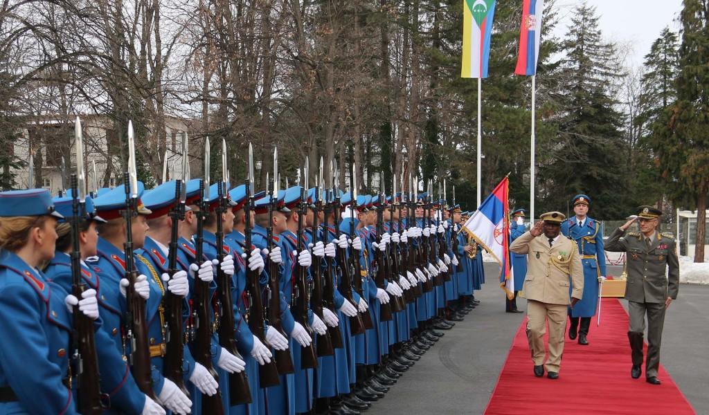 Генерал Мојсиловић са начелником Генералштаба Уније Комора