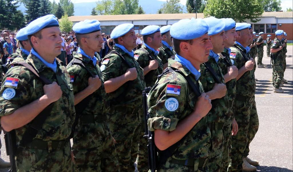 Испраћај пешадијске чете и вода за заштиту снага у мисију у Либану