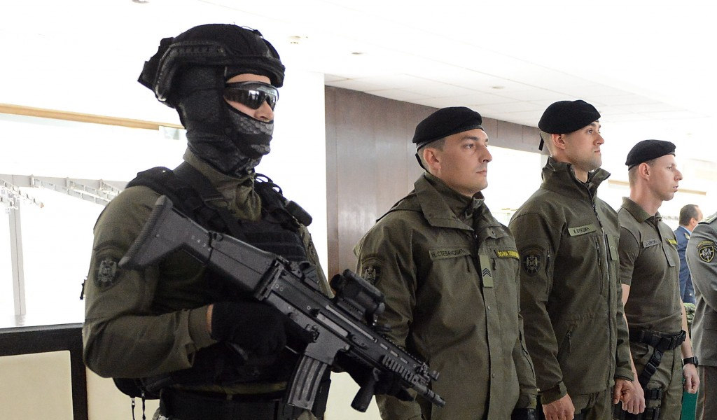Modern uniforms for members of the Serbian Armed Forces