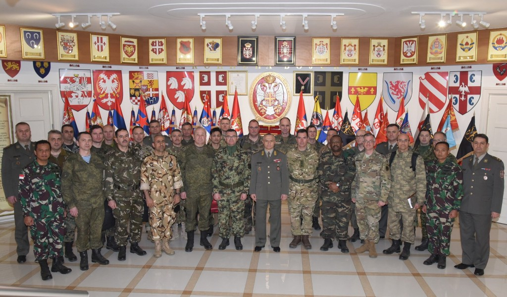 Foreign Military Representatives visit the Land Forces