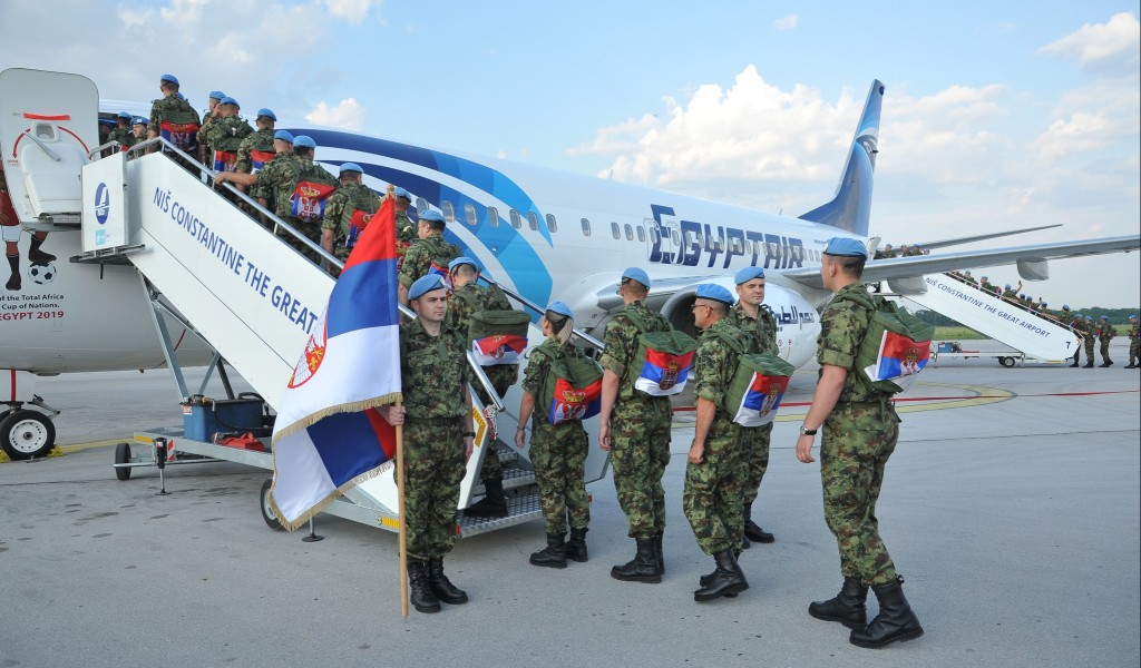 Shift of the Serb contingent deployed in multinational operation in Lebanon