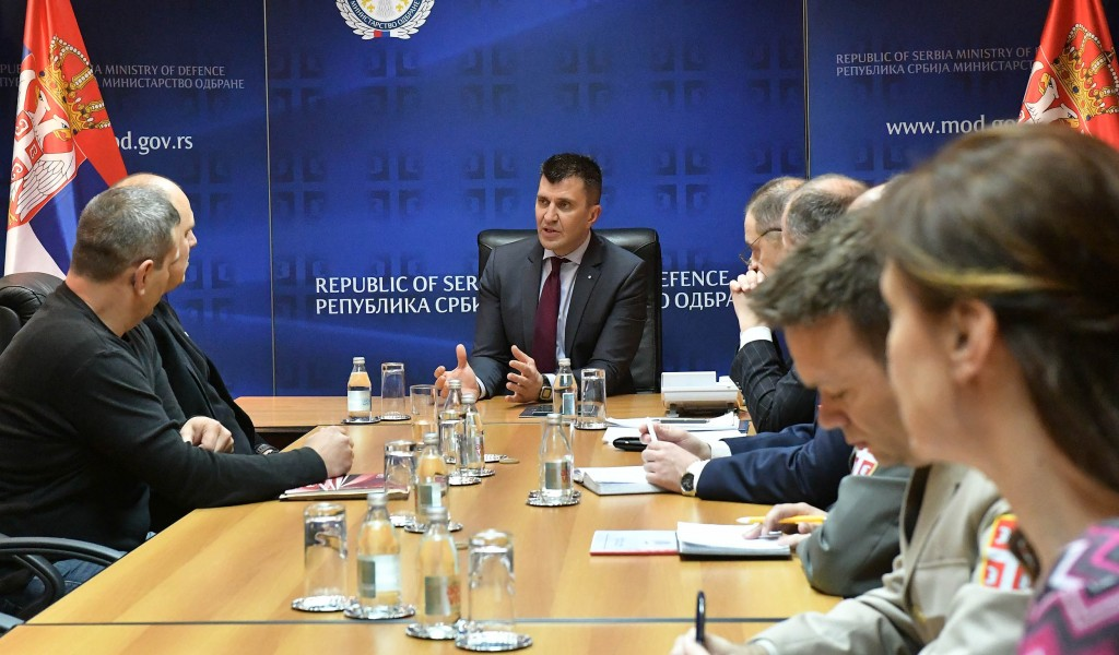 "Defence Minister meets with representatives of the Trade Union ""Sloga"""