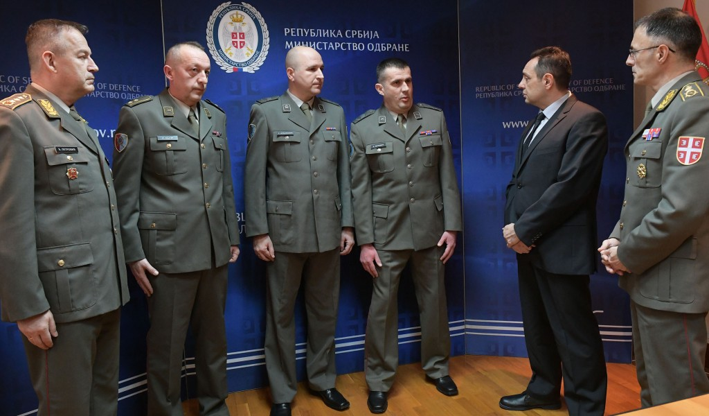 Minister Vulin The members of the Serbian Armed Forces have proved once again their humanity bravery and competence