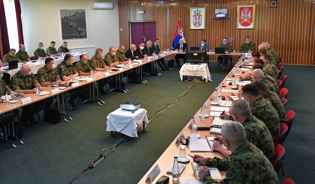 Заједничка седница Колегијума министра одбране и проширеног Колегијума начелника Генералштаба