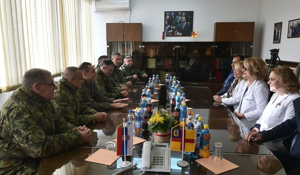 Minister Vulin We are grateful to civilian healthcare service for helping the Serbian Armed Forces