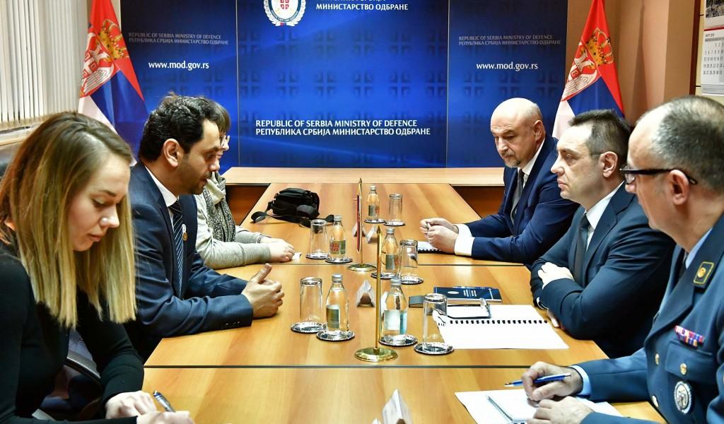 Састанак министра одбране са амбасадором Уједињених Арапских Емирата