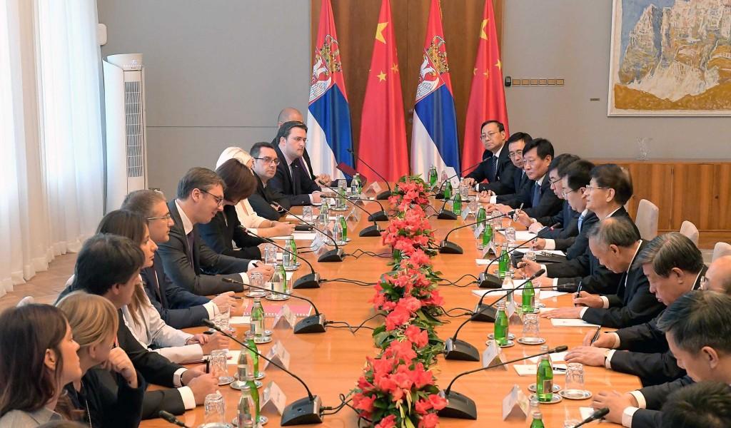Сусрет са специјалним изаслаником председника НР Кине Менгом Ђианџоуом