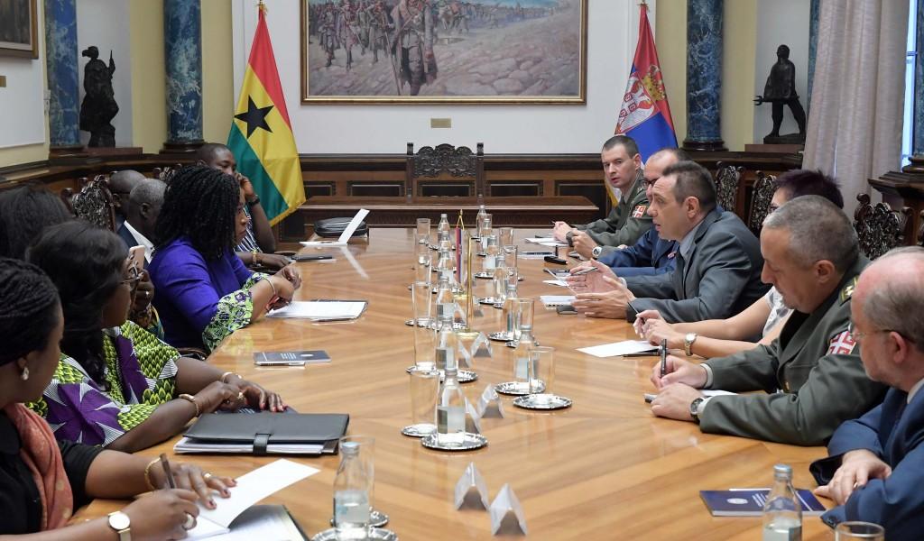 Susret ministra odbrane i ministarke inostranih poslova i regionalnih integracija Gane