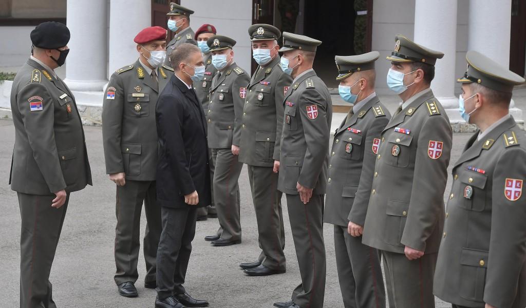 Министар Стефановић у Команди Команде за обуку