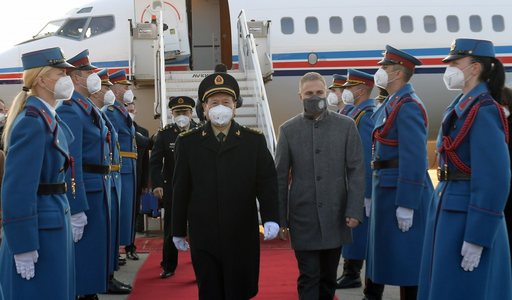 Minister of Defence of People s Republic of China arrives in Serbia