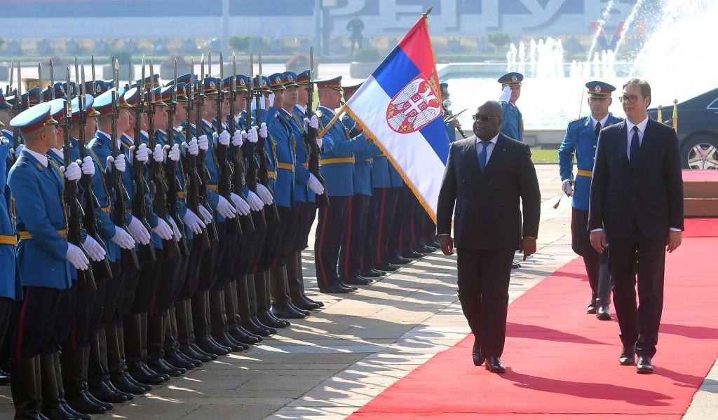 Свечани дочек председника Демократске Републике Конго