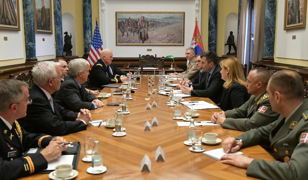 Састанак министра Ђорђевића са генералом Хоџисом