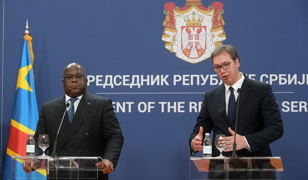 Председник Вучић Србија и ДР Конго разговараће и о развоју војно техничке сарадње